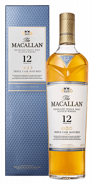The Macallan Triple Cask Matured 12 y.o. Highland single malt scotch whisky (gift box),  0.7л
