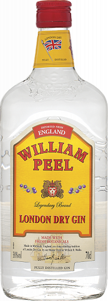 William Peel London dry gin,  0.7л