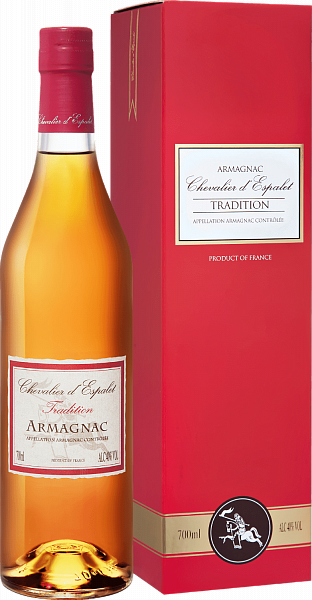 Chevalier d'Espalet Tradition VS Armagnac AOC (gift box),  0.7л