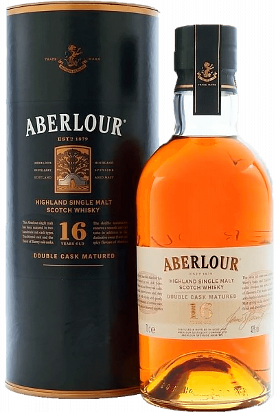 Aberlour Double Cask Matured Highland 16 y.o. Single Malt Scotch Whisky (gift box),  0.7л