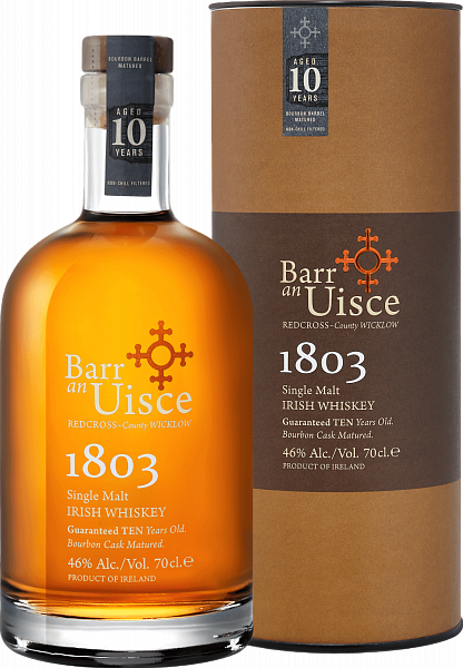 Barr an Uisce 1803 Single Malt Irish Whiskey 10 YO (gift box),  0.7л