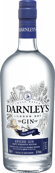Darnley's Navy Strength Gin Wemyss Malts,  0.7л