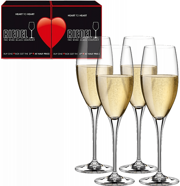 Riedel Heart to Heart CHAMPAGNE (4 glasses set)